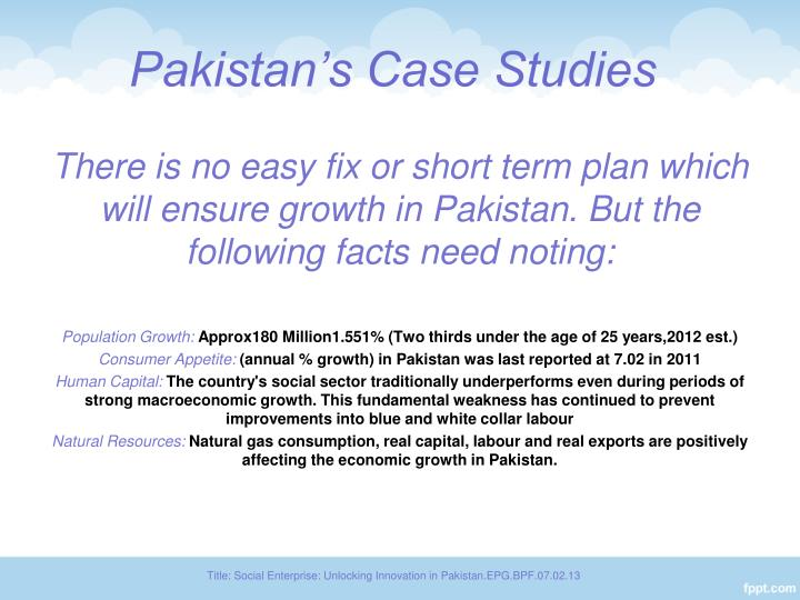Pakistan's Case Studies