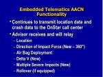 embedded telematics aacn functionality