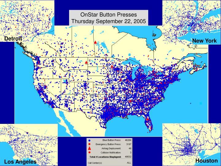 OnStar Button Presses