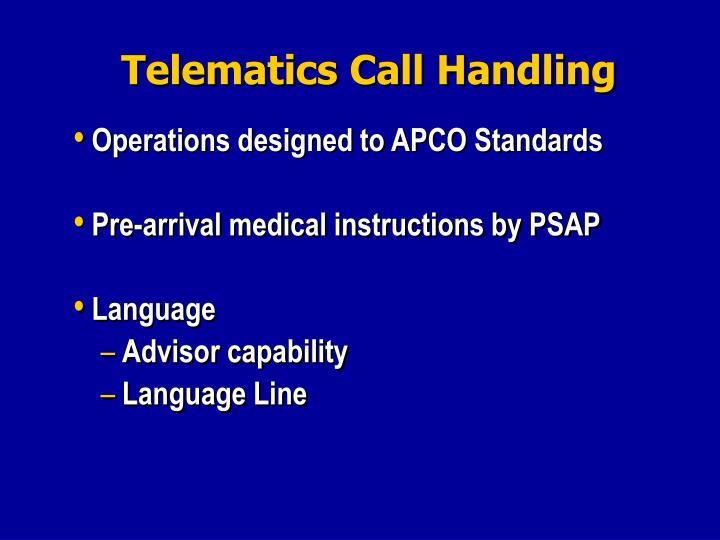 Telematics Call Handling