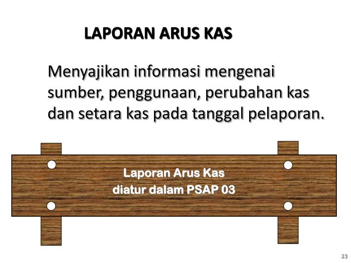 LAPORAN ARUS KAS