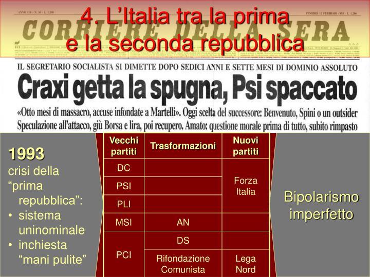 4. L'Italia tra la prima