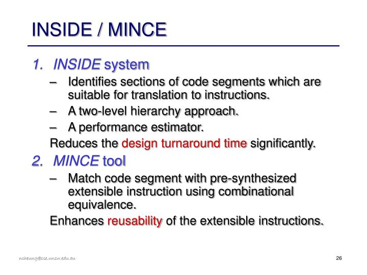 INSIDE / MINCE