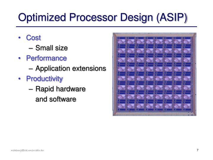 Optimized Processor Design (ASIP)