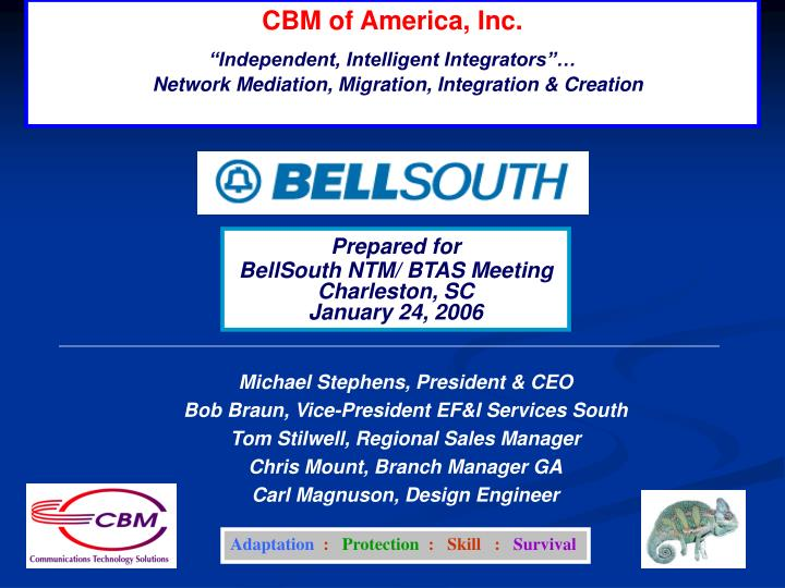 CBM of America, Inc.