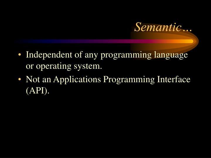 Semantic…