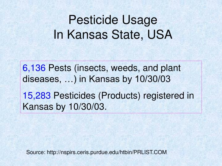 Pesticide Usage