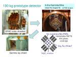 100 kg prototype detector