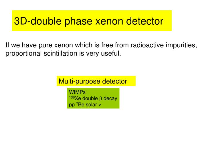 3D-double phase xenon detector