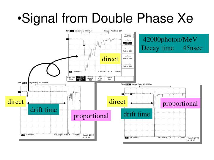 Signal from Double Phase Xe
