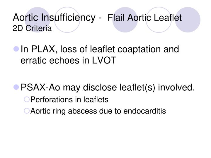 Aortic Insufficiency -