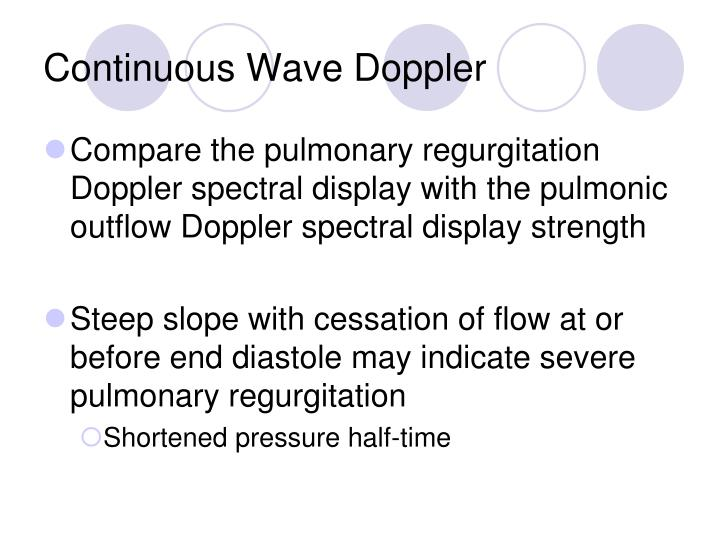 Continuous Wave Doppler