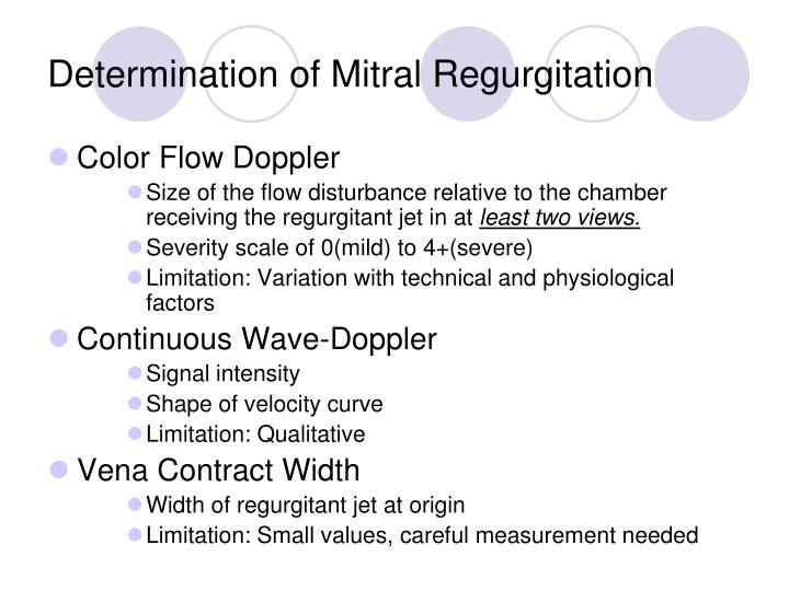 Determination of Mitral Regurgitation