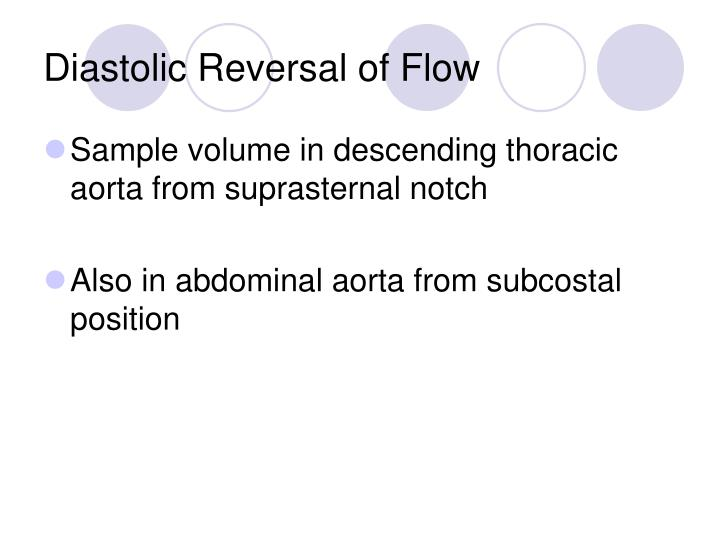 Diastolic Reversal of Flow