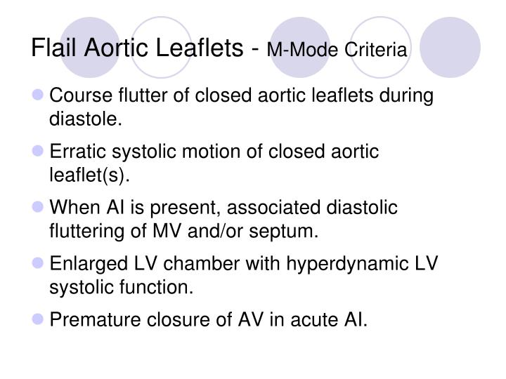 Flail Aortic Leaflets -