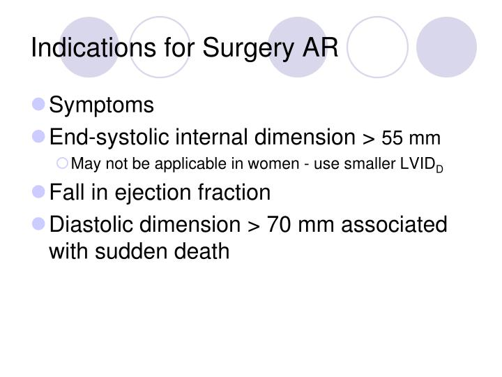 Indications for Surgery AR