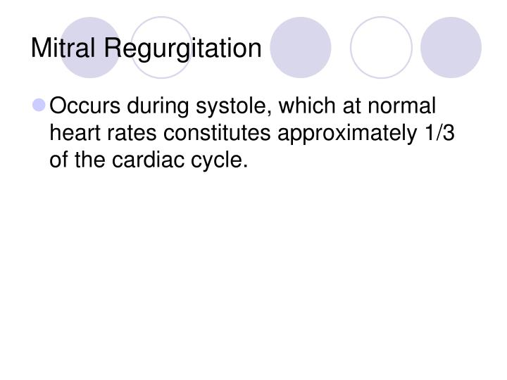 Mitral Regurgitation
