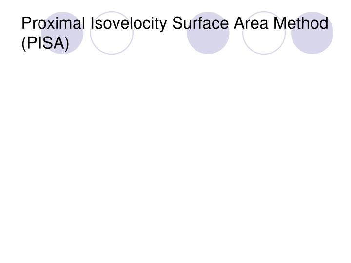 Proximal Isovelocity Surface Area Method (PISA)