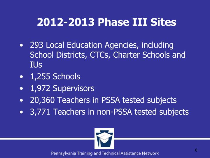 2012-2013 Phase III Sites