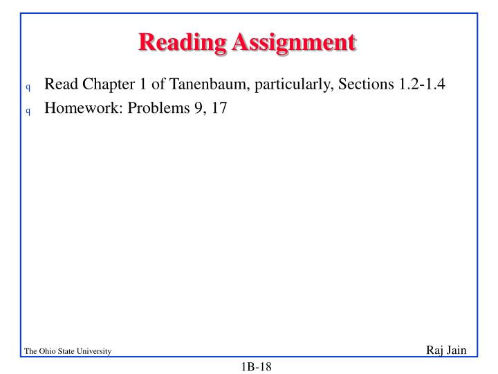 reading assignment Managing reading assignments prioritize read texts that you deem most important or relevant for a course first, particularly when your professor mentions a passage or when a reading is to be covered in class prioritize readings by determining what will be reviewed in discussion sections and by knowing test dates and.