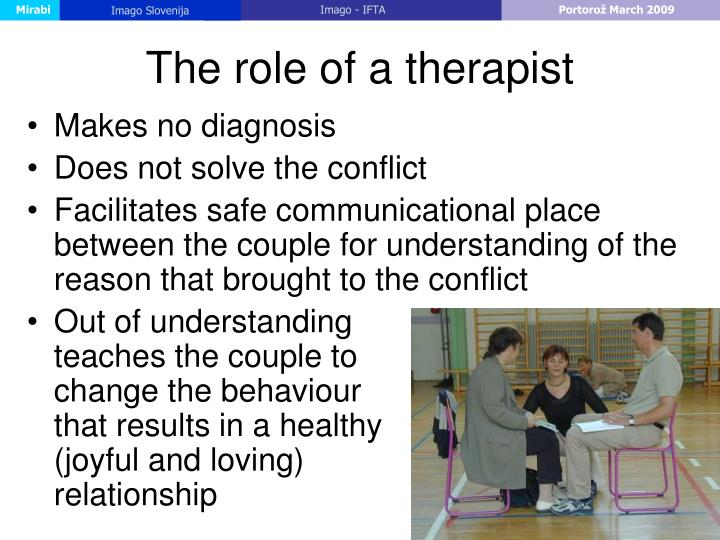 The role of a therapist