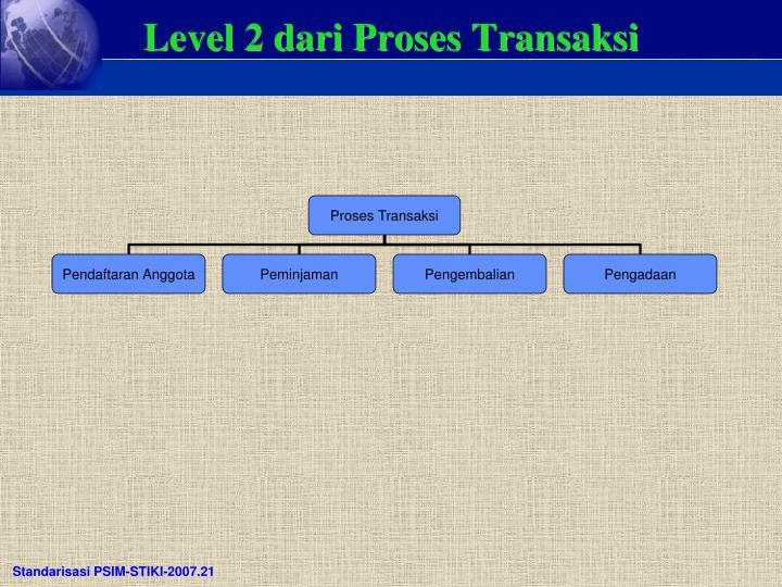 Level 2 dari Proses Transaksi