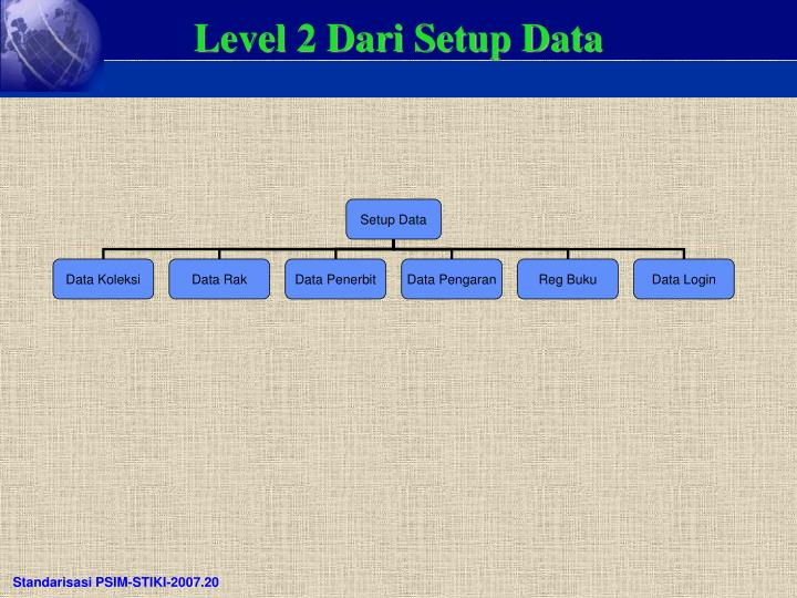 Level 2 Dari Setup Data