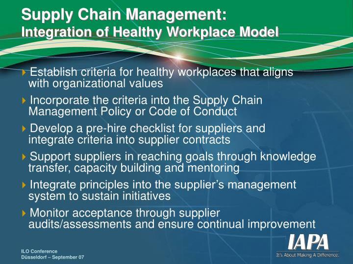 Supply Chain Management: