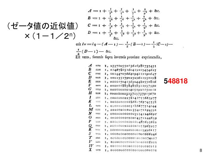 (ゼータ値の近似値)