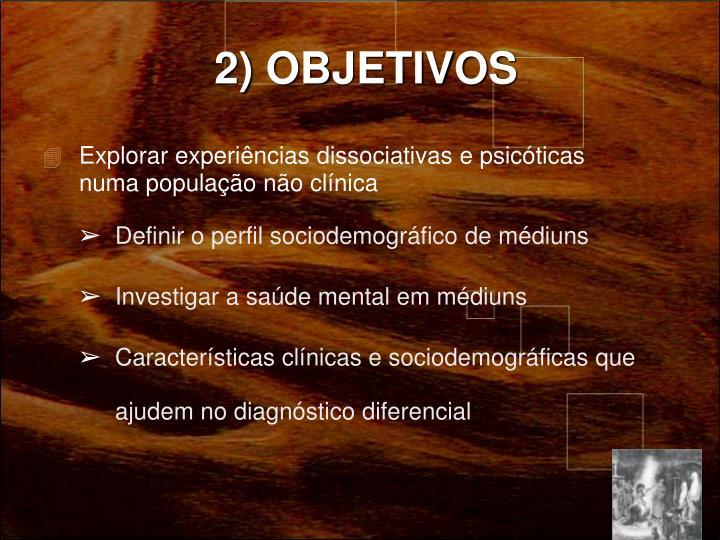 2) OBJETIVOS