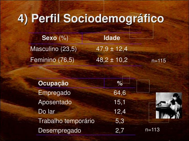 4) Perfil Sociodemográfico