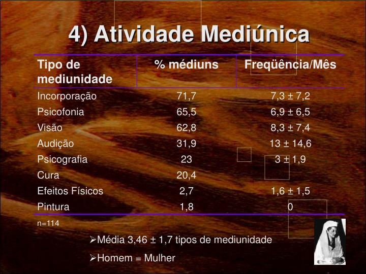 4) Atividade Mediúnica