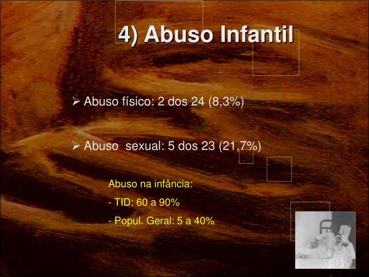 4) Abuso Infantil
