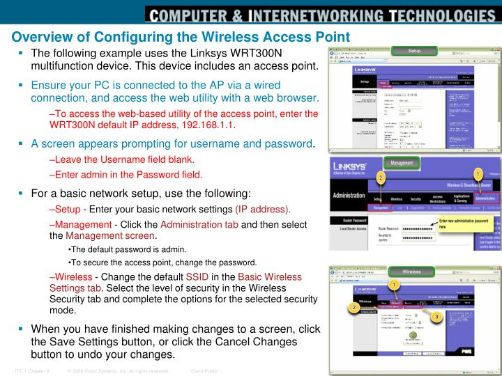 Overview of Configuring the Wireless Access Point