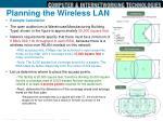 planning the wireless lan2