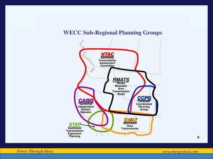 WECC Sub-Regional Planning Groups