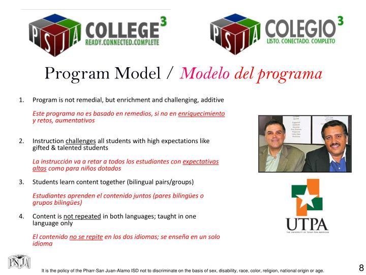 Program Model /