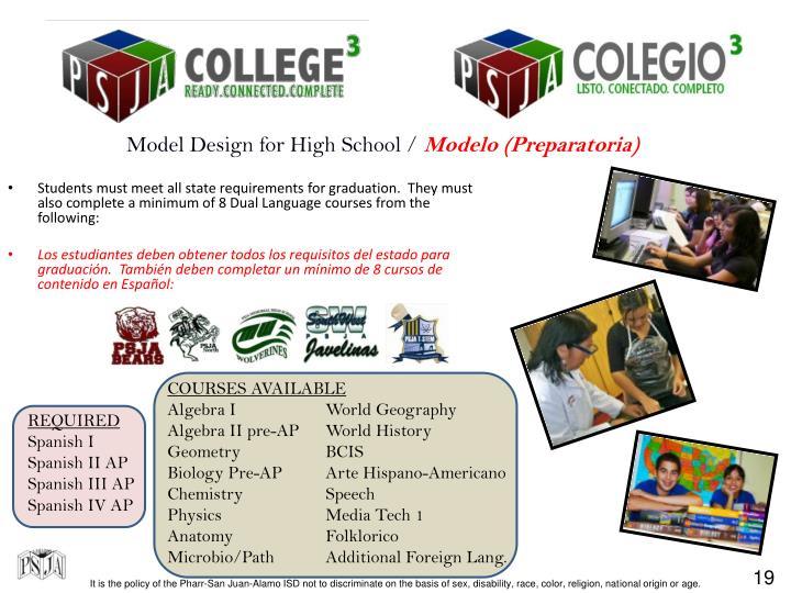 Model Design for High School /