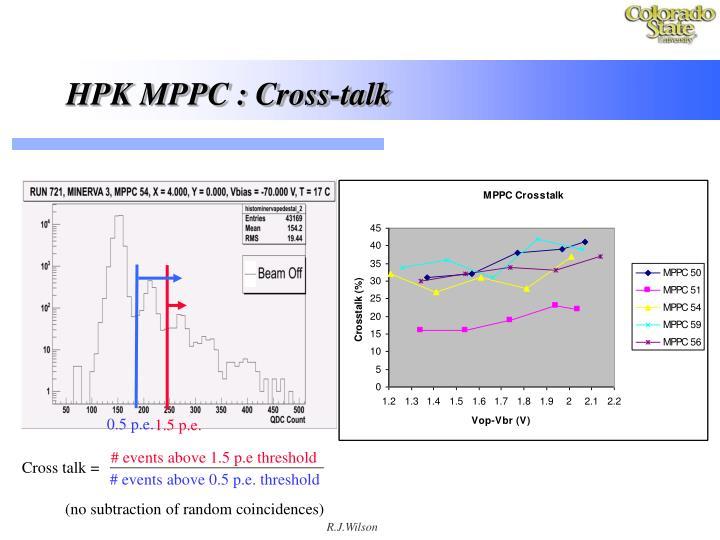 HPK MPPC : Cross-talk