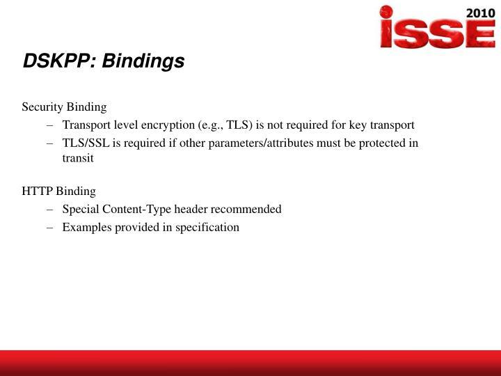 DSKPP: Bindings