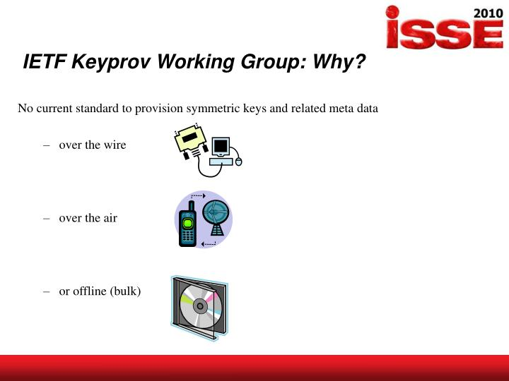 IETF Keyprov Working Group: Why?