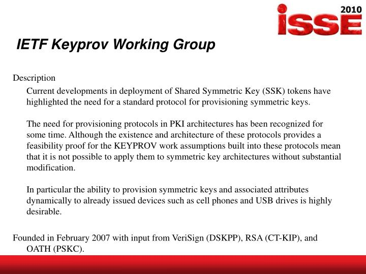 IETF Keyprov Working Group