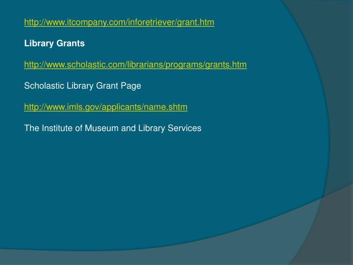 http://www.itcompany.com/inforetriever/grant.htm