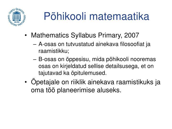 Põhikooli matemaatika