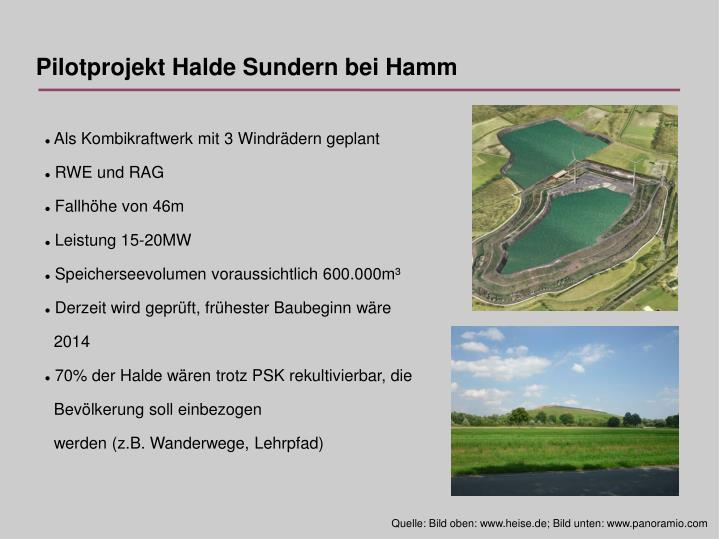 Pilotprojekt Halde Sundern bei Hamm
