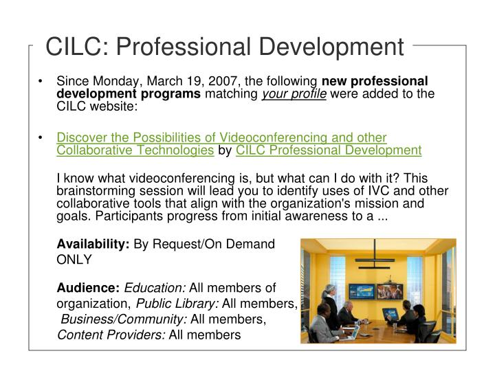 CILC: Professional Development