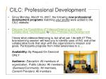 cilc professional development