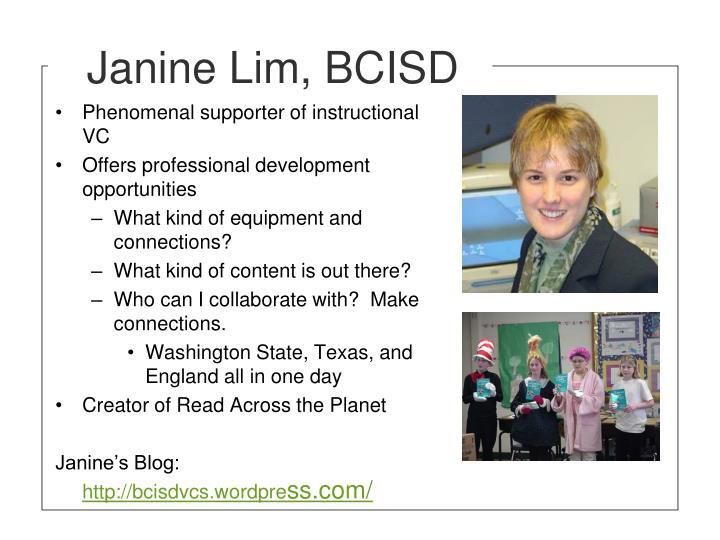 Janine Lim, BCISD