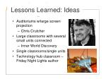 lessons learned ideas