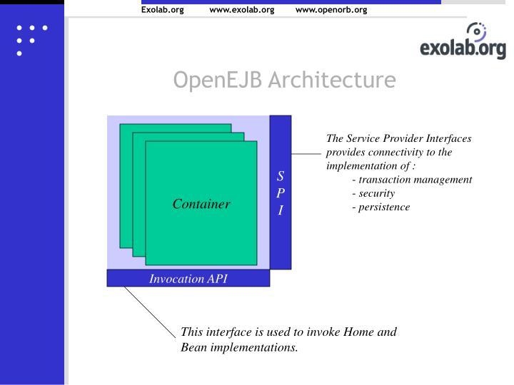 OpenEJB Architecture